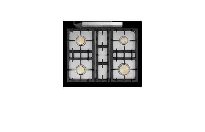 Savigny Classique 4 Feux Moderne  - pianos-et-fourneaux.com le spécialiste des pianos de cuisine et fourneaux de cuisson Lacanche et Westhal