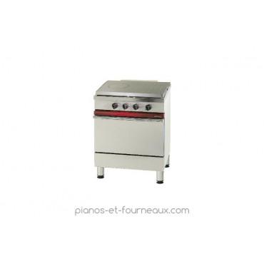 Fourneau avec plaque coup de feu 650 x 500 mm, 1 four gaz Gastronorme 1/1